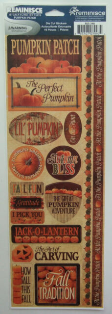 ~PUMPKIN PATCH~ Reminisce Cardstock Stickers; Fall, Autumn, Halloween, Carving