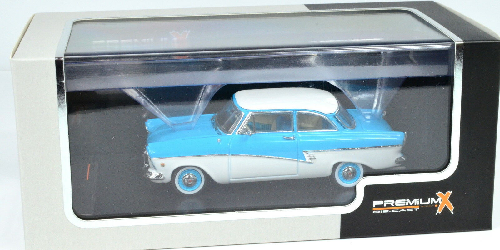 Ford Taunus 17m Year 1957 Scale 1 43 bluee-White Von Premiumx