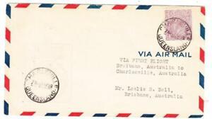 Australia SG#92-FIRST FLIGHT-Mu#44a-CHARLEVILLE QUEENSLAND 21 AP/29-TO