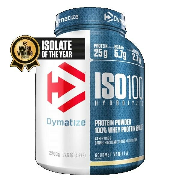 Dymatize Nutrition Iso 100 Whey Whey 100 Protein Powder Post Workout 2.27kg - Vanilla cee88f