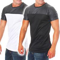 Urban Classics Herren T-Shirt Kunstleder oversize leather tee TB980