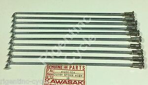 10 New NOS OEM Kawasaki F5 F8 outer spokes spoke 41028-034