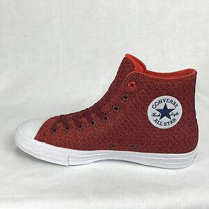 Converse Mens Chuck Ii Spacer Mesh High Top Red Mesh Material Fits