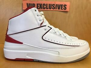 bd9b906ae4e80d NIKE AIR JORDAN 2 RETRO II OG 2014 WHITE-RED-BLACK-CMENT GREY 385475 ...