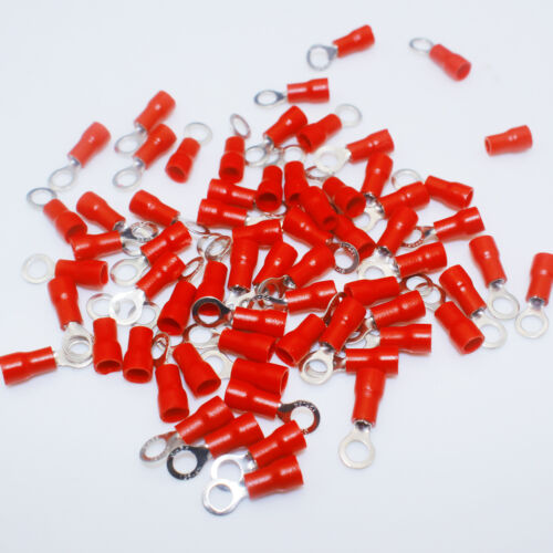 20PCS Set Ring Insulated Wire Terminal Electrical Crimp AWG16-22 Pro Connectors