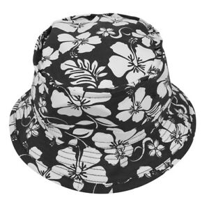 6b147363 Details about Hibiscus Hawaiian Tropical Floral Print Fisherman Bucket Hat  FREE SHIP