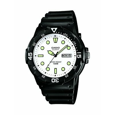Casio Collection MRW-200H-7EVEF Reloj con Pantalla de Neón Hombre Blanco y Verde