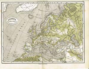 Inventif Carte Physique De L'europe, D'origine-graphique 1874-ik 1874 Fr-fr Afficher Le Titre D'origine