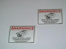 Security Surveillance CCTV System Warning Sticker 2 Lot