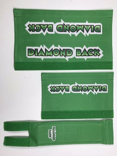 DiamondBack Pad Set Black Oldschool Bmx REPOP Green