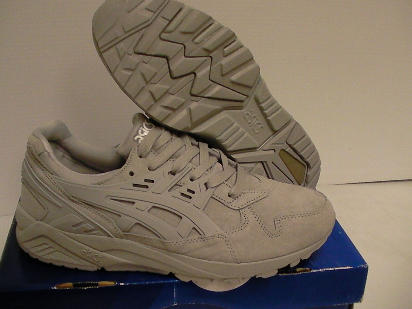 Mens Asics shoes running gel kayano trainer light grey size 7 us new