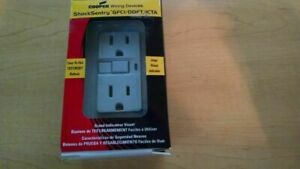 COOPER Wiring Devices Shock Sentry GFCI/DDFT/ICTA Receptacle, Almond (B54)