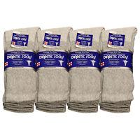 Diabetic Socks Men Unisex Crew Length 9-11, 10-13, 13-15 Black Grey & White 7