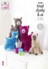 tinsel santa gnomes three sizes easy  knitting  pattern 9087