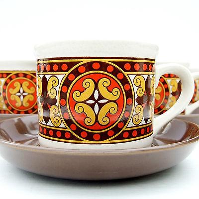 Vintage Retro 1960s 1970s Sadler Celtic Rancher Coffee Set 6 Cups Saucers