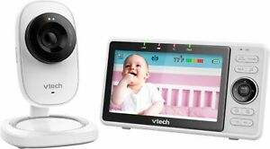 """VTech - Video Baby Monitor with Wi-Fi camera and 5"""" Screen - White"""