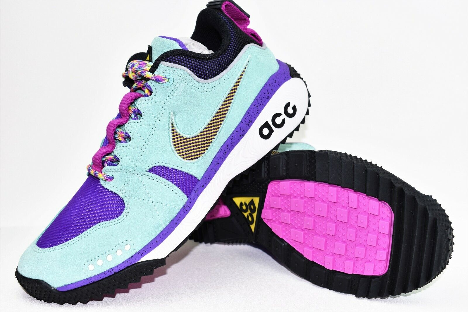 Nike ACG Dog Mountain Mens Size 9.5 shoes Emerald Rise bluee Purple AQ0916 300