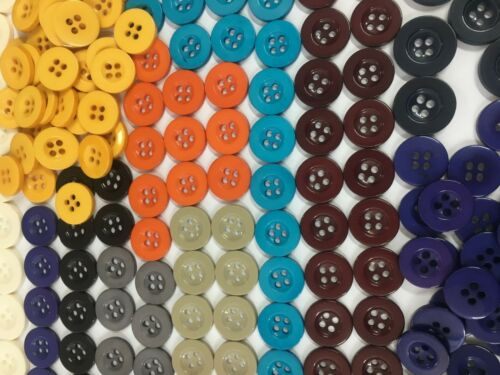 Polyester 4 Hole Buttons TROUSER,Blouse 15 mm SHIRT BUTTONS 18 mm