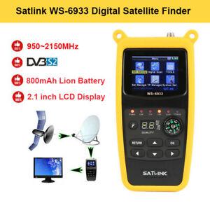 Satlink-WS-6933-2-1-034-LCD-FTA-HD-DVB-S2-Satellitensignalfinder-SAT-950-2150MHz