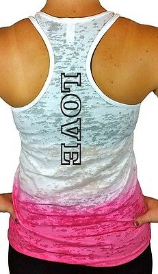 Love Ombre Burnout Racerback Tank Top, Fitness, Yoga, & Workout Shirts & Tops