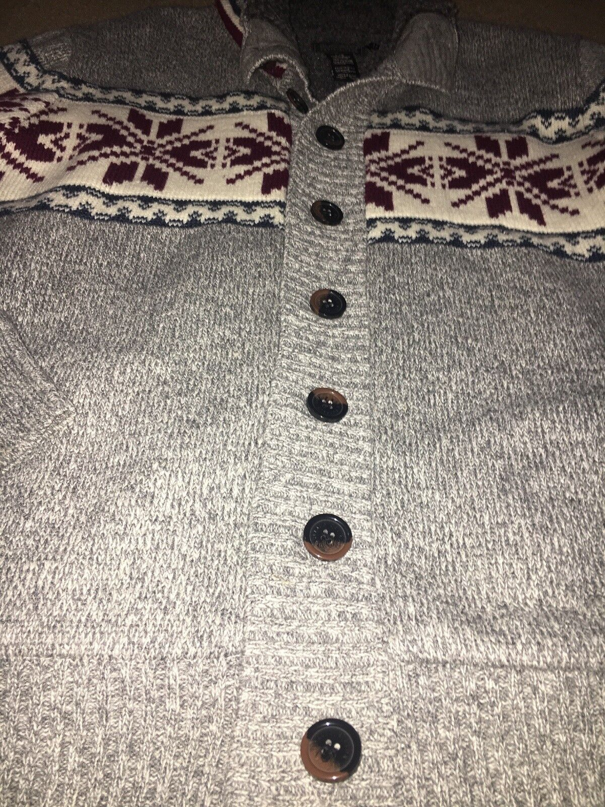 Buffalo David sweater Bitton mens sweater David Large grau excellent c5ba7b