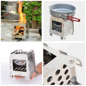 Outdoor Large Stainless Steel Camping Cooking Folding Wood