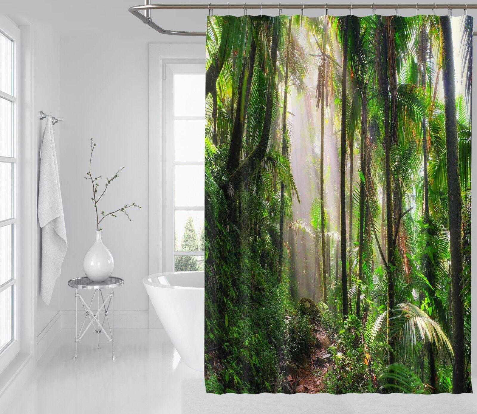 3D 3D 3D Gras Baum 645 Duschvorhang Wasserdicht Faser Bad Daheim Windows Toilette DE 0cdbfd