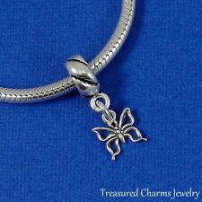 .925 Sterling Silver BUTTERFLY Dangle Bead CHARM fits EUROPEAN Bracelet *NEW*