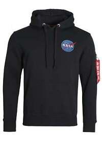 EDIZIONE-limitata-Alpha-Industries-NASA-Space-Shuttle-OTH-Felpa-Con-Cappuccio-REP-blu