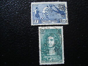 FRANCE-timbre-Yvert-et-Tellier-n-396-397-obl-A3-stamp-french