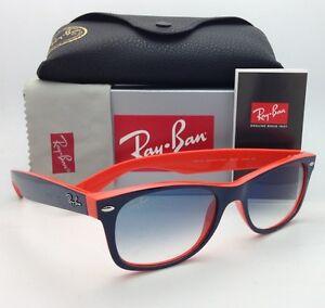 da0b8706f7 Ray-Ban Sunglasses RB 2132 NEW WAYFARER 789 3F 52-18 Blue on Orange ...