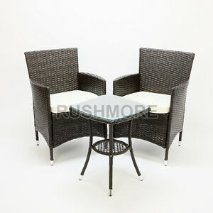 RATTAN-GARDEN-FURNITURE-COMPANION-CHAIR-amp-TABLE-PATIO-SET