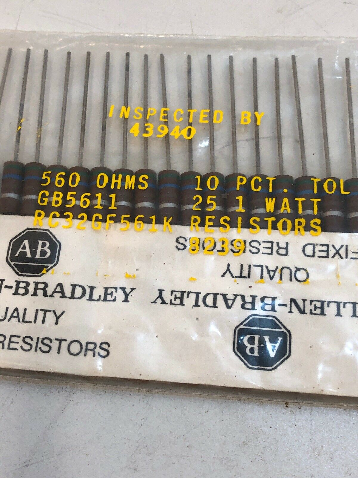 10 Ohm 1 Watt 5/% Carbon Film Resistor 294-10-RC 10 Piece Lot