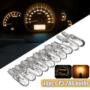 10x-Ampoules-T5-2W2-12V-1-2W-Xenon-Ambre-Lampe-Compteur-Tableau-de-Bord-Voiture