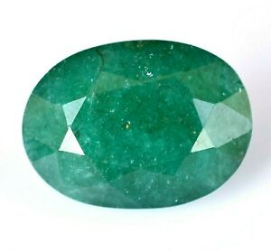 14.20 Ct Natural Green Zambian Emerald Oval AGSL Certified Top Quality Gemstone