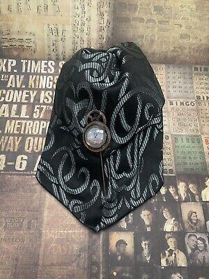 Mens Gift Steampunk Silver Gunmetal  Cravat And Clockface Tie  Pin