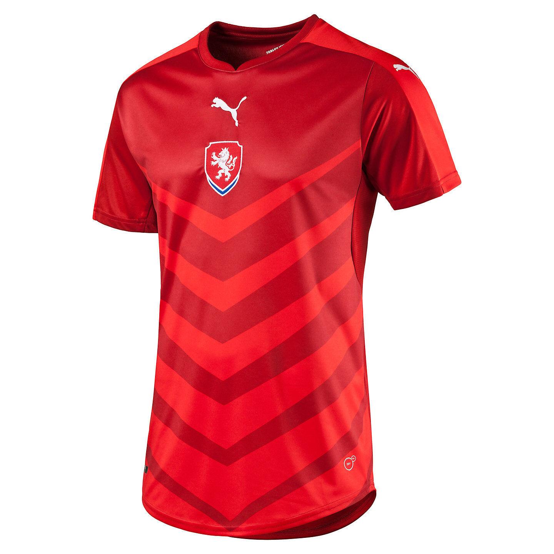 Puma Czech Republic  UEFA Euro 2016 DryCell Home Soccer Jersey New ROT