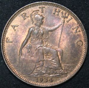 1934-George-V-Farthing-Coins-KM-Coins