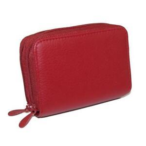 New-Buxton-Women-039-s-Leather-Mini-Accordion-Wizard-Wallet