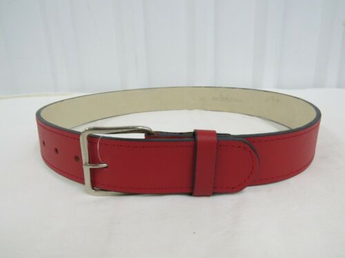 Softball Belt Red Assort Sizes Details about  /Teamwork Athletic 6240 Real Leather Baseball