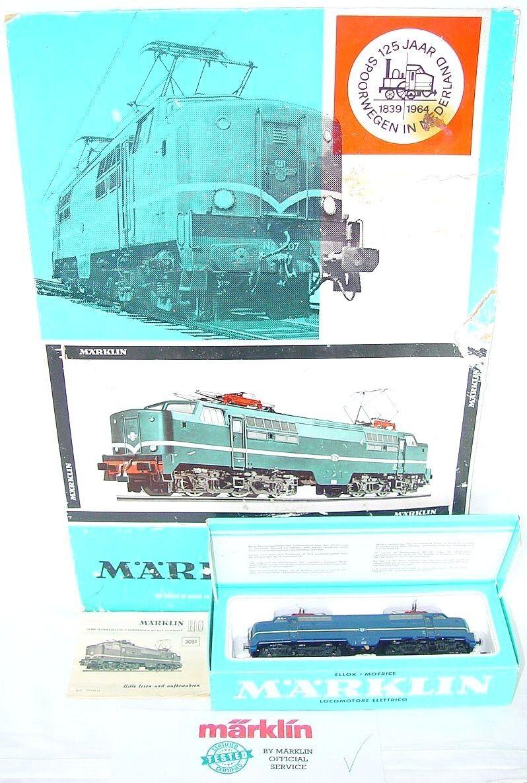 Märklin AC HO 1 87 holandés NS 1219 Locomotora Eléctrica + panDimensione conmemorativa en Caja Como Nuevo