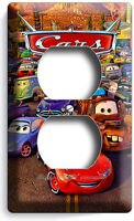 CARS 2 LIGHTNING MCQUEEN SALLY MATER DISNEY MOVIE POWER OUTLET WALL PLATE COVER