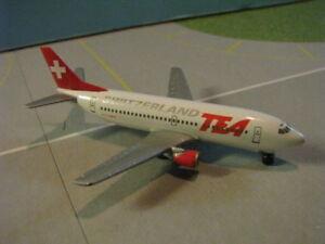 HERPA-WINGS-500456-TEA-SWITZERLAND-737-300-1-500-SCALE-DIECAST-METAL-MODEL