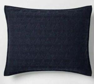 Project 62 Triangle Stitch Jersey Standard Pillow Sham Yellow Citron