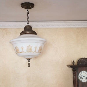 354 Vintage 20s 30 S Ceiling Light Lamp