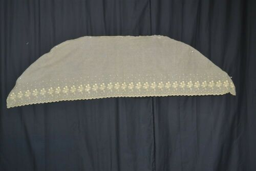 antique fichu collar net lace tambour embroidered