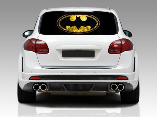 BATMAN LOGO Car Rear Window Graphic Decal See-Through Sticker Truck SUV Van 089