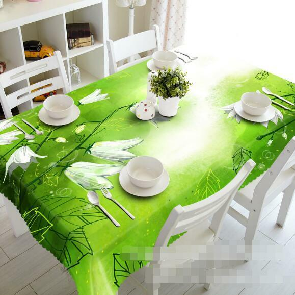 3D Fresh Flowers Tablecloth Table Cover Cloth Birthday Party Event AJ WALLPAPER