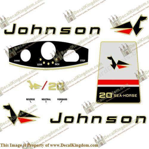 Johnson 1966 Outboard Decal Kit (Multiple Sizes Available) 3M Marine Grade