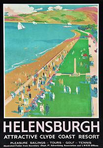TT92-Vintage-Helensburgh-Clyde-Coast-Railway-Travel-Poster-Re-Print-A4